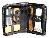 Schuhpflege Set für zu Hause und auf Reisen, Schuhputz Etui mit Inhalt, aus...