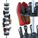 Deuba XXL Schuhregal Metall ausziehbar Platz für 96 Schuhe höhenverstellbar...